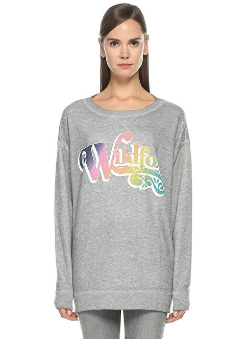 Wild Fox Sweatshirt Gri